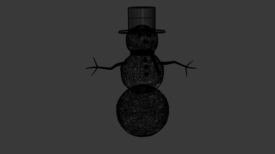 winter snowman 3d model blend 216795