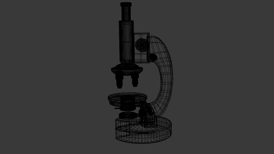 माइक्रोस्कोप 3d मॉडल मिश्रण 216802