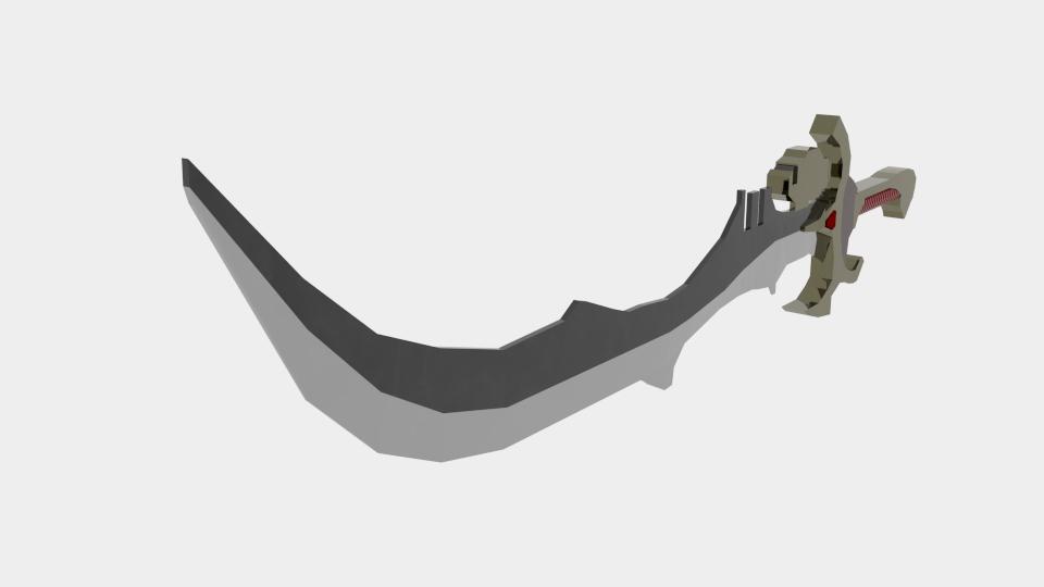 power sword 3d model blend 216815