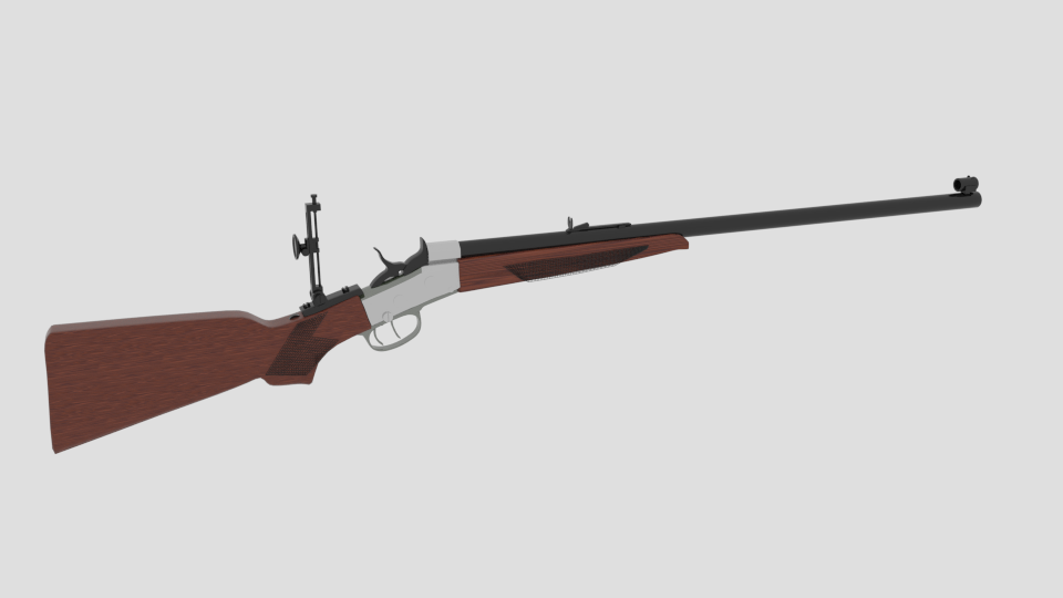 creedmoor rifle 3d model blend 216828
