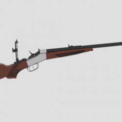 Creedmoor RIfle 3d model 0