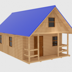 Log Cabin v1 3d model blend