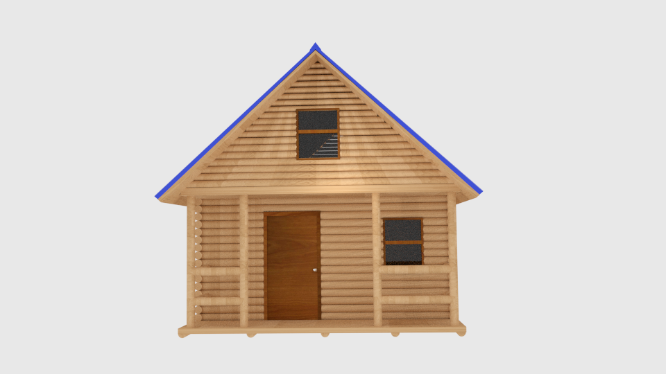 log cabin v1 3d model blend 216838