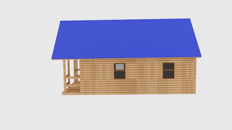 log cabin v1 3d model blend 216839