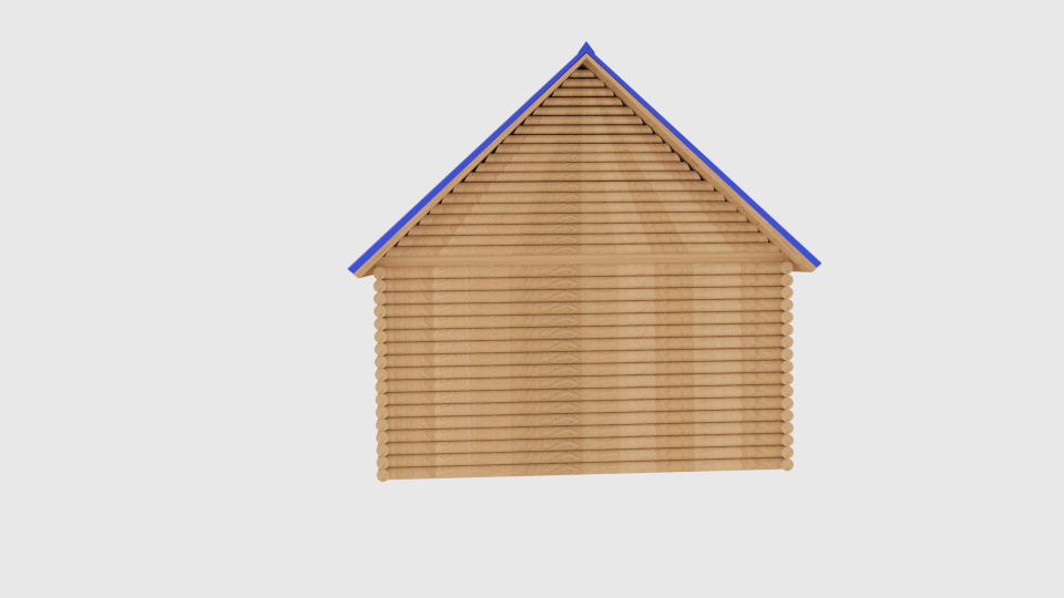 log cabin v1 3d model blend 216840