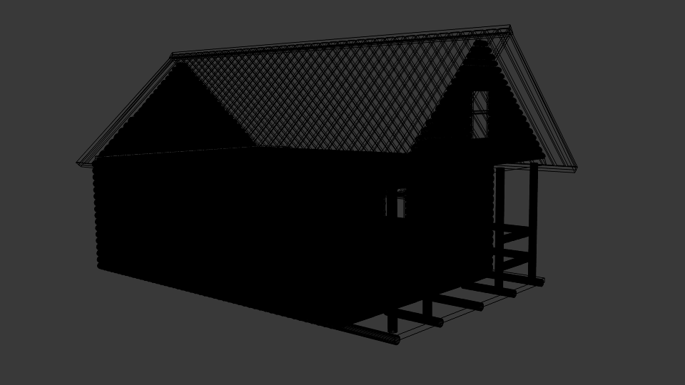 log cabin v1 3d model blend 216842