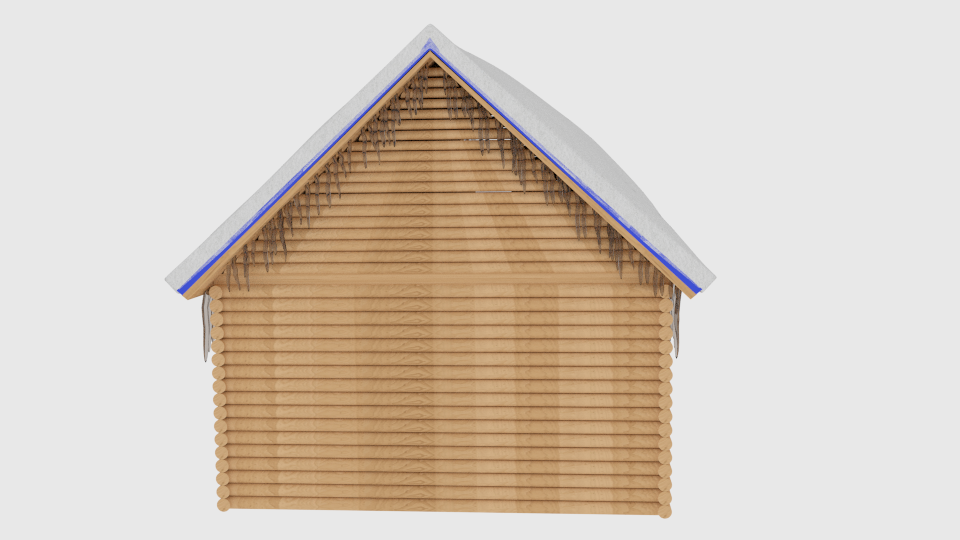 winter log cabin 3d model blend 216847