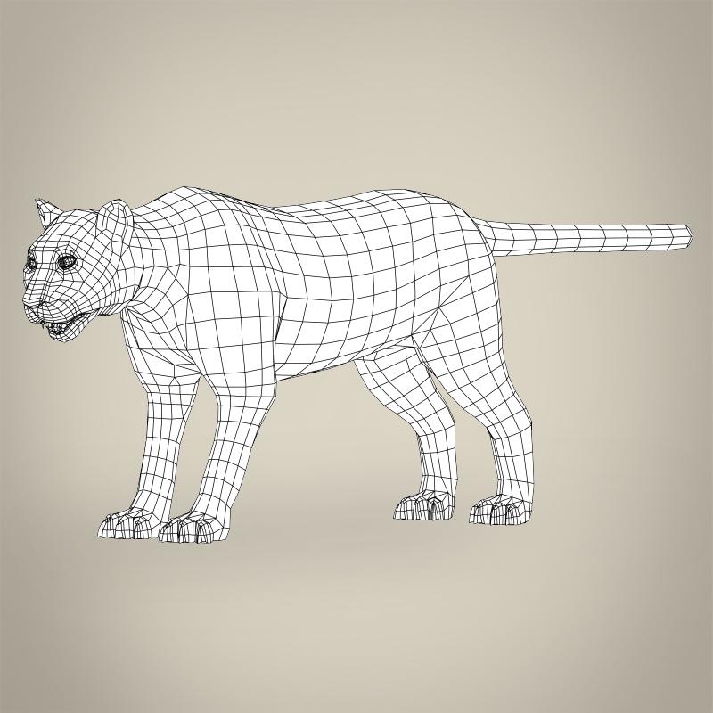 zema poli reālistiska kalnu lauva 3d modelis 3ds max fbx c4d lwo ma mb obj 216887