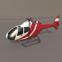 Eurocopter Colibri EC-120B helicopter 3d model 0