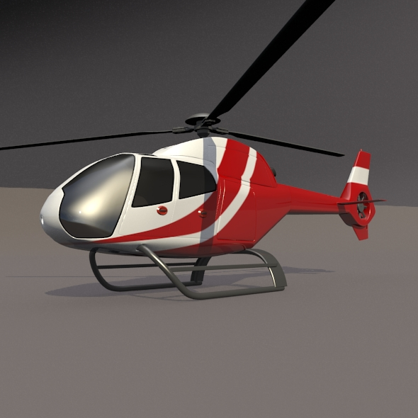 eurocopter colibri ec-120b helicopter 3d model 3ds fbx blend dae lwo obj 216958