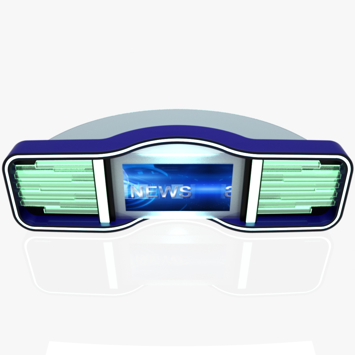 Virtual Home Design Studio: Virtual Tv Studio News Desk 5 3D Model