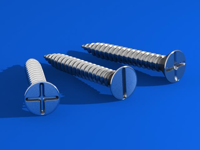 Screws 3D v 3d model max fbx 216977