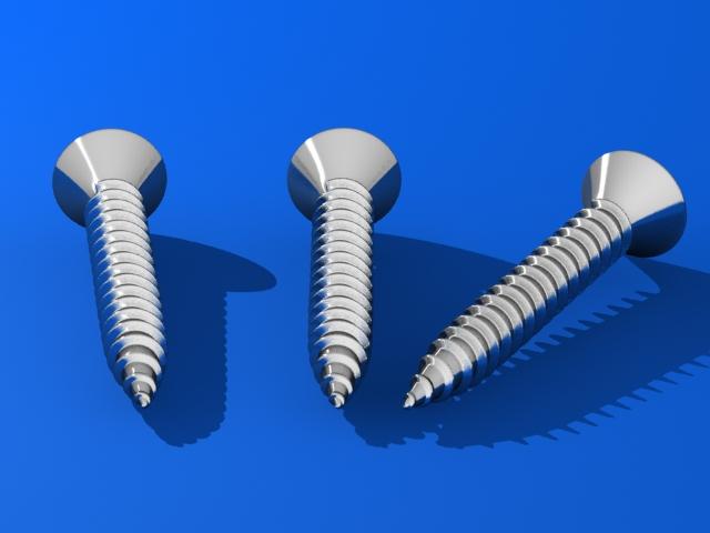 screws 3d v 3d model max fbx 216979