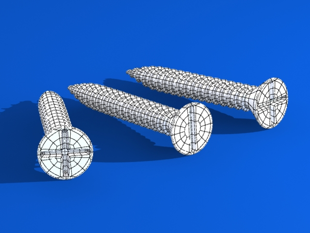 screws 3d v 3d model max fbx 216981