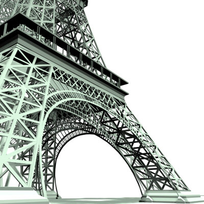 eiffel tower 3d model max 217046
