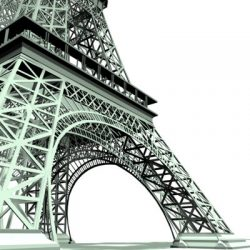 Eiffel Tower 3d model 0