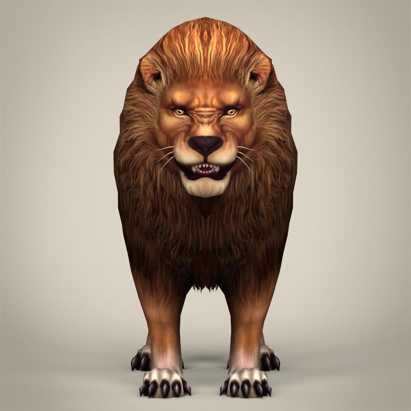 spēle gatavs reāls lauva 3d modelis 3ds max fbx c4d lwo ma mb obj 217052