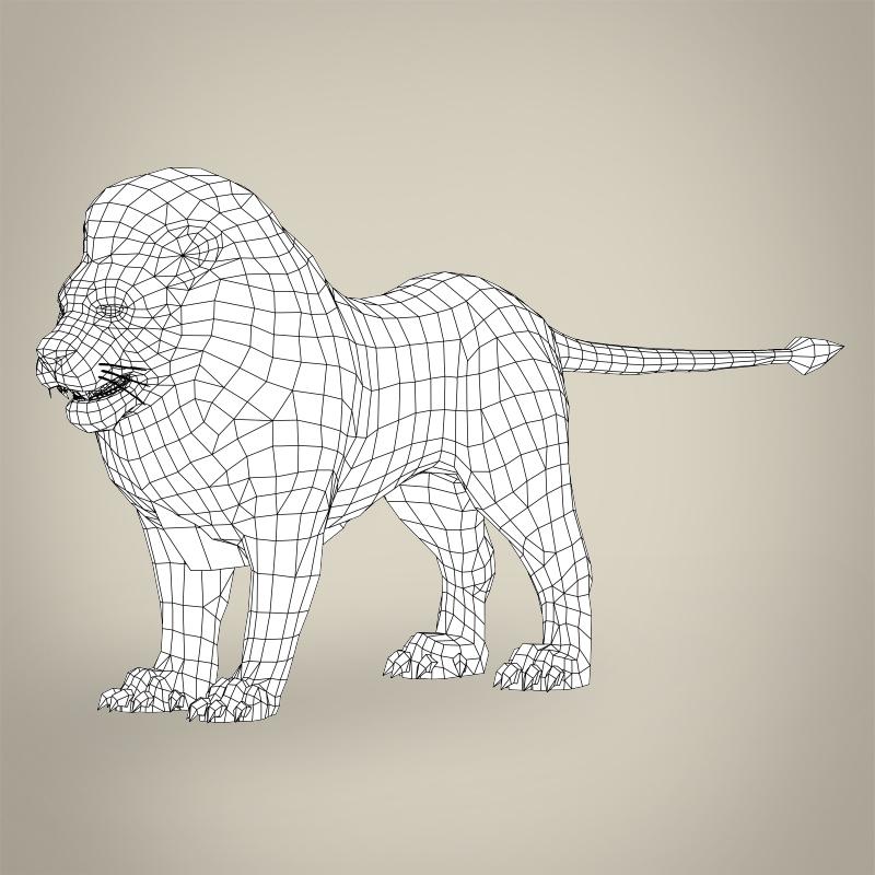 spēle gatavs reāls lauva 3d modelis 3ds max fbx c4d lwo ma mb obj 217058