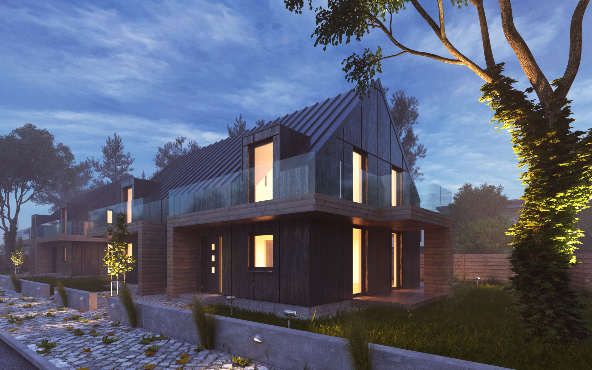 3ds max vray exterior night scene free download