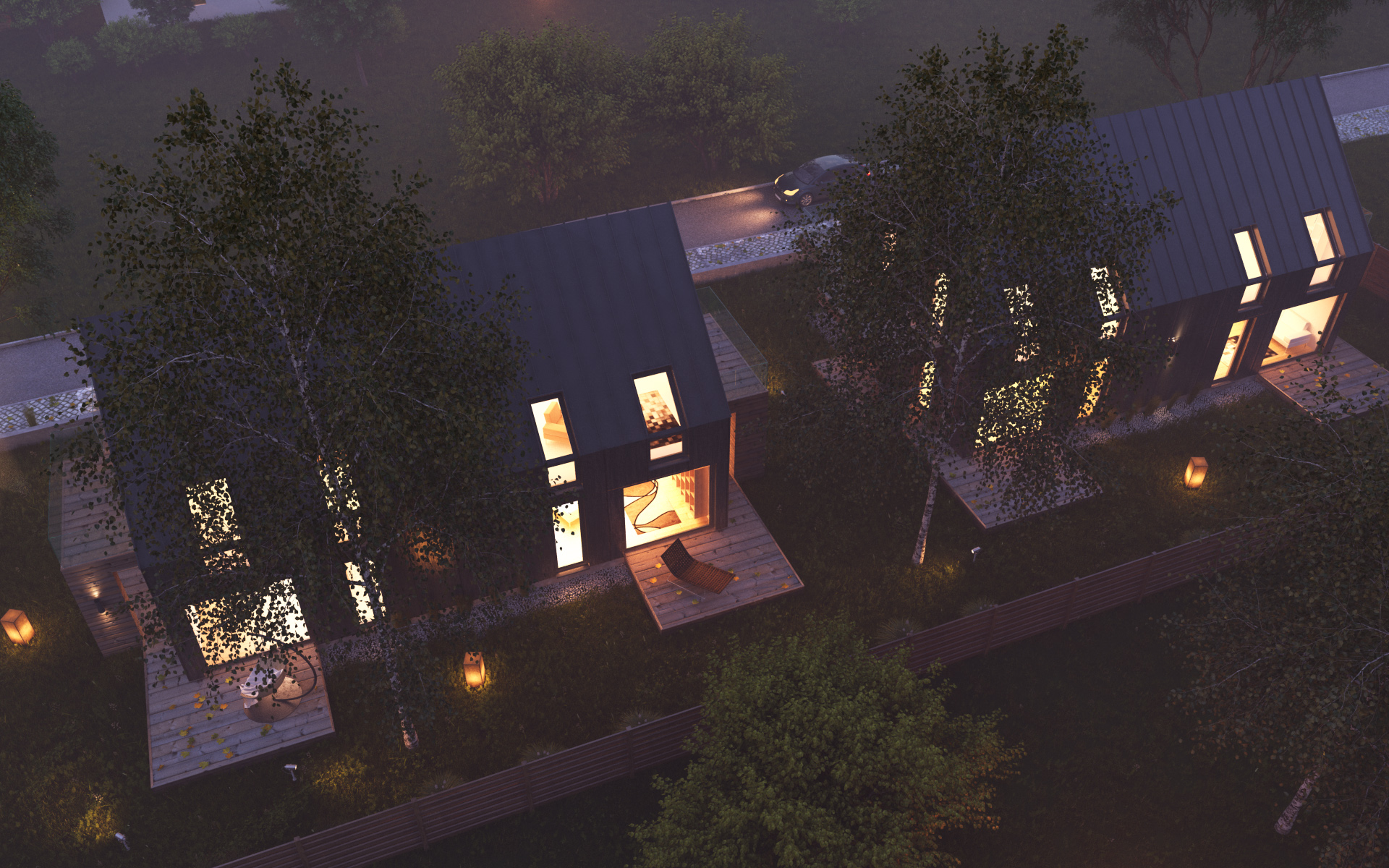 architecture how to make night render