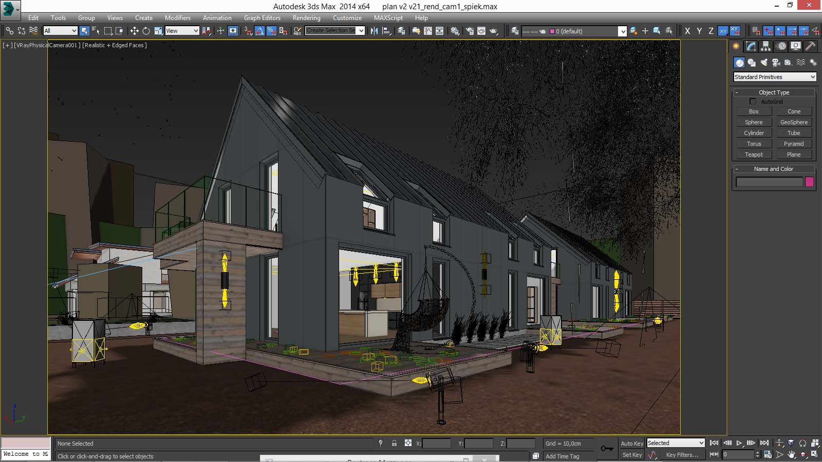 Vray night scene rendering modern house tutorial 3d for Rendering gratis