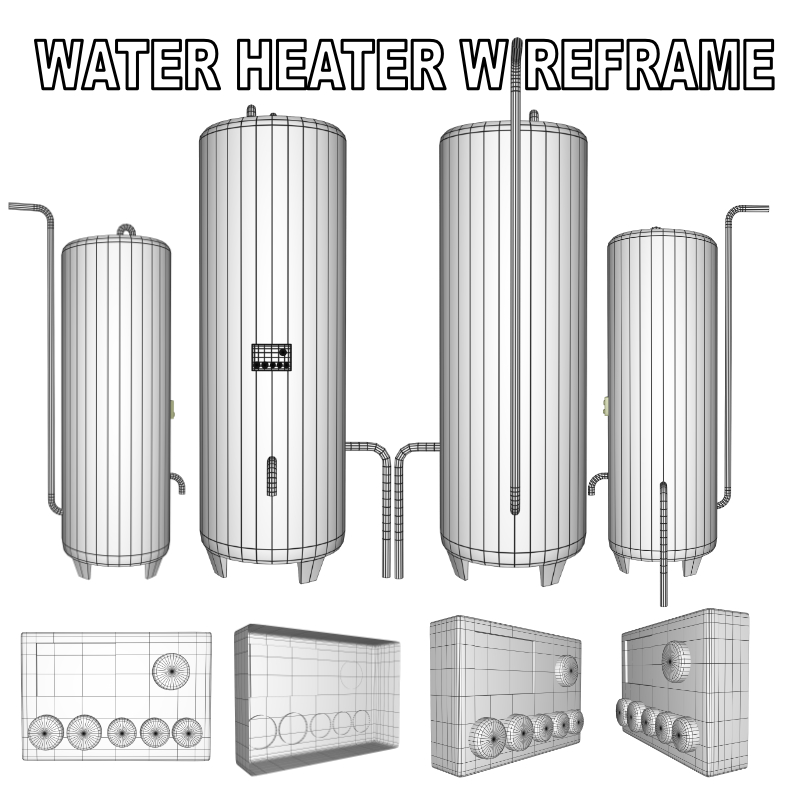 water heater object 3d model obj 217100