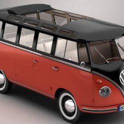 Volkswagen Type 2 Samba 1959 3d model 0