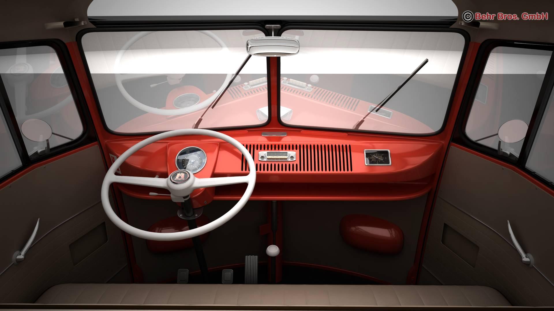 volkswagen type 2 samba 1959 3d model 3ds max fbx c4d lwo ma mb obj 217118