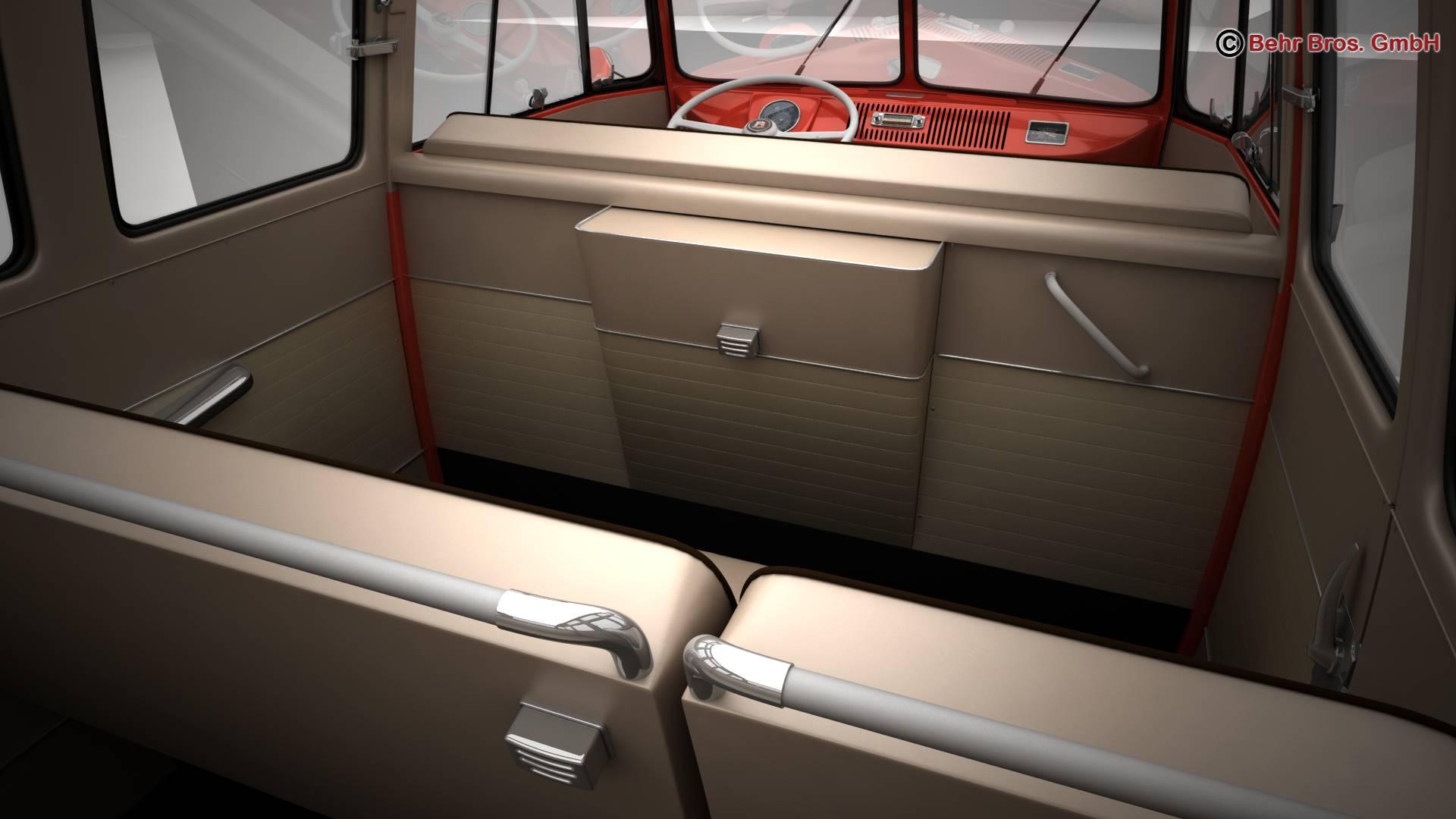 volkswagen type 2 samba 1959 3d model 3ds max fbx c4d lwo ma mb obj 217119