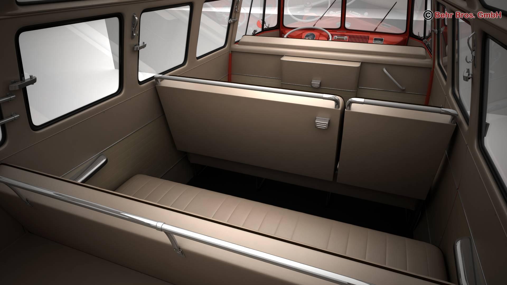 volkswagen type 2 samba 1959 3d model 3ds max fbx c4d lwo ma mb obj 217120