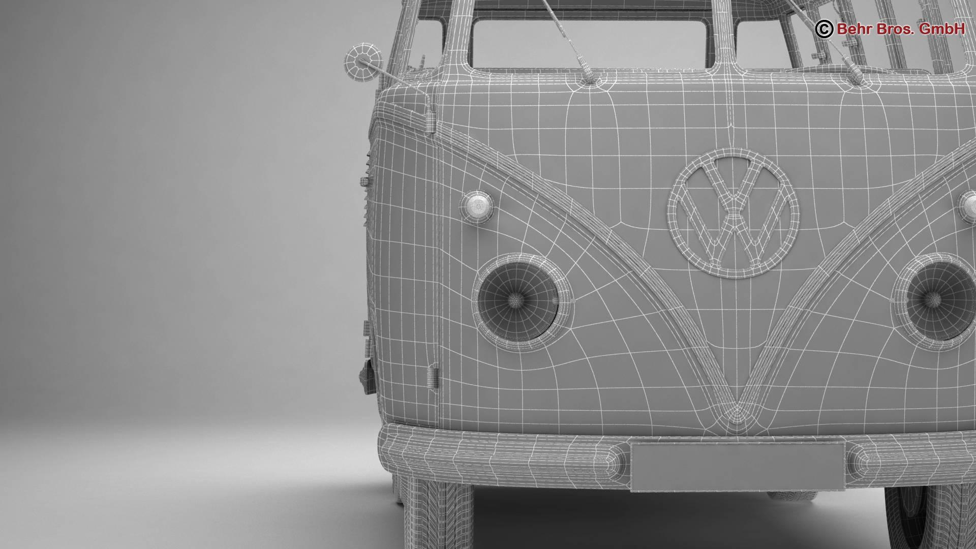 volkswagen type 2 samba 1959 3d model 3ds max fbx c4d lwo ma mb obj 217128
