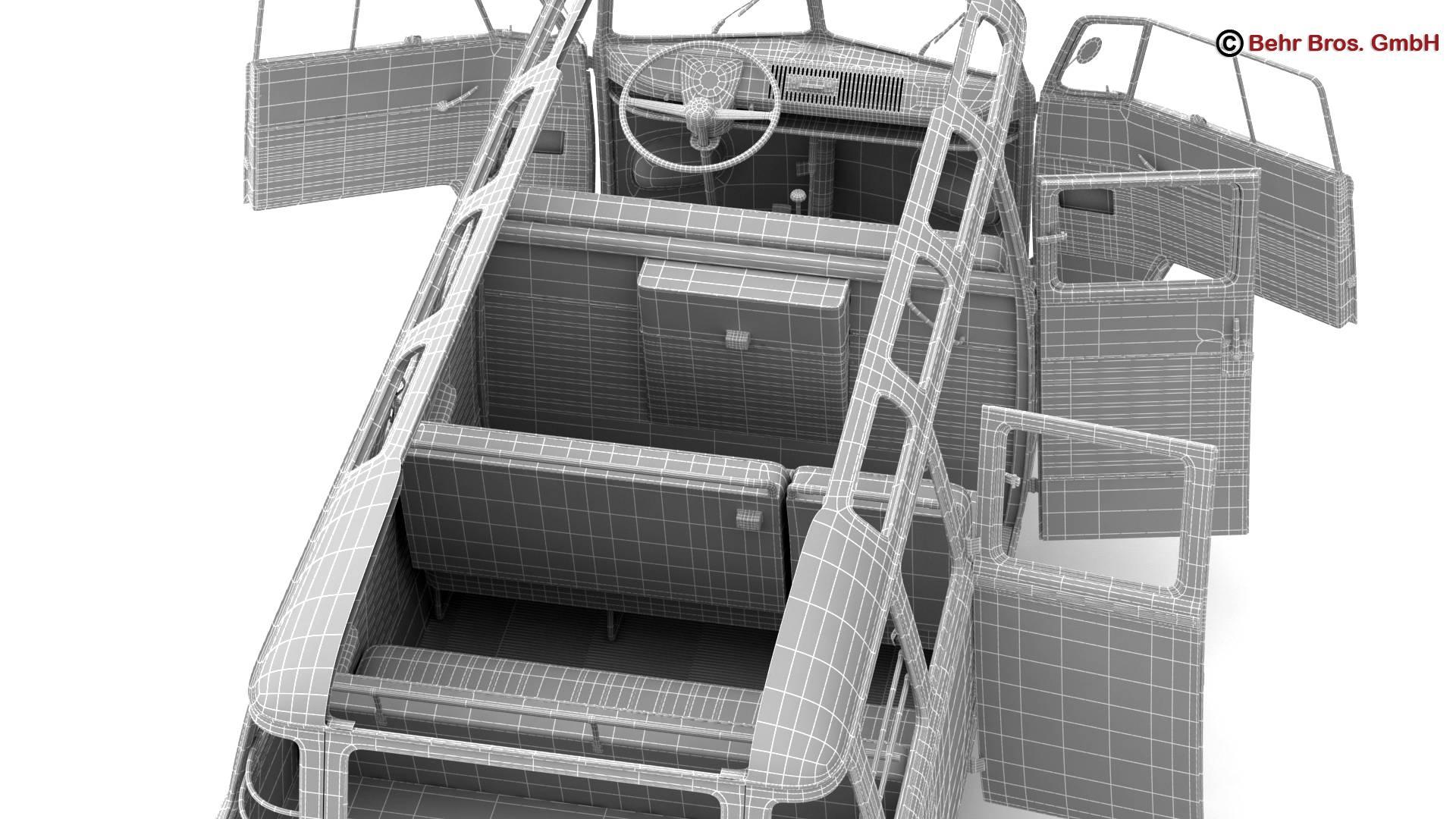 volkswagen type 2 samba 1959 3d model 3ds max fbx c4d lwo ma mb obj 217133