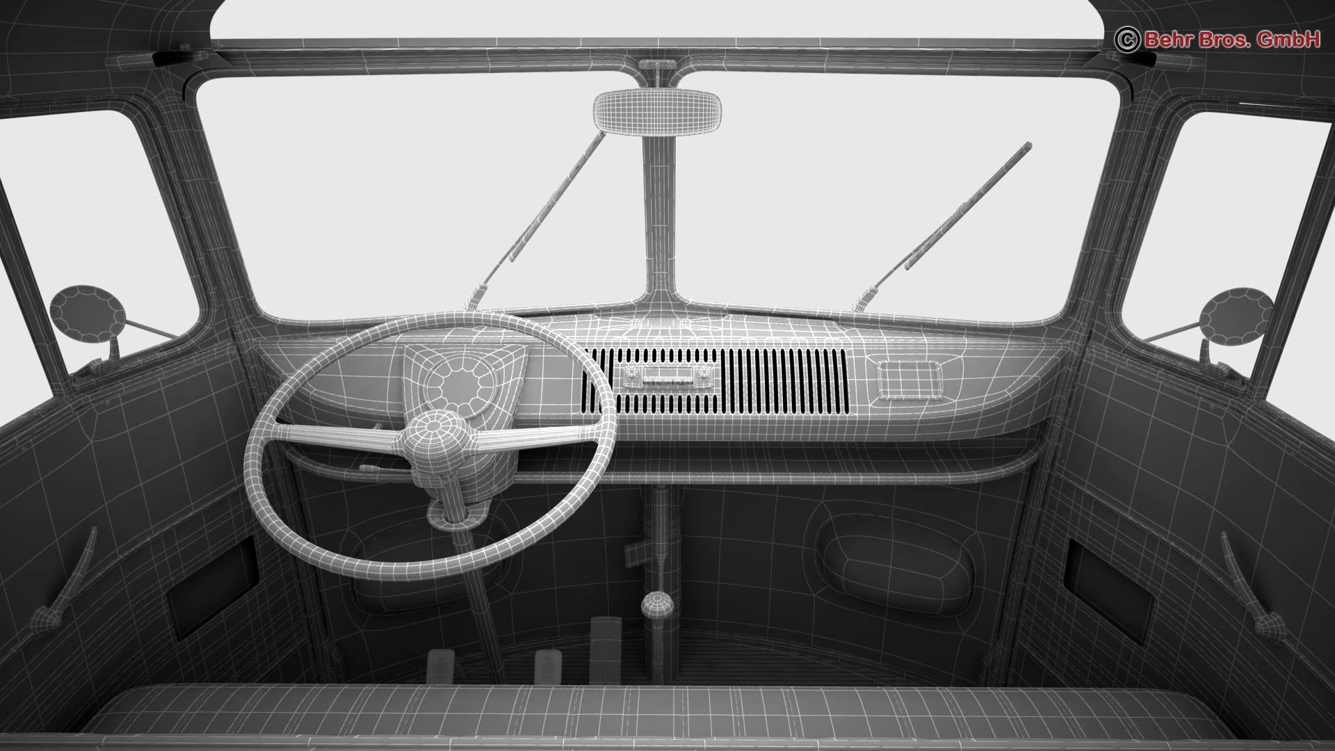 volkswagen type 2 samba 1959 3d model 3ds max fbx c4d lwo ma mb obj 217134
