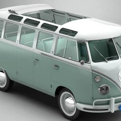 Volkswagen Type 2 Samba 1963 3d model 0