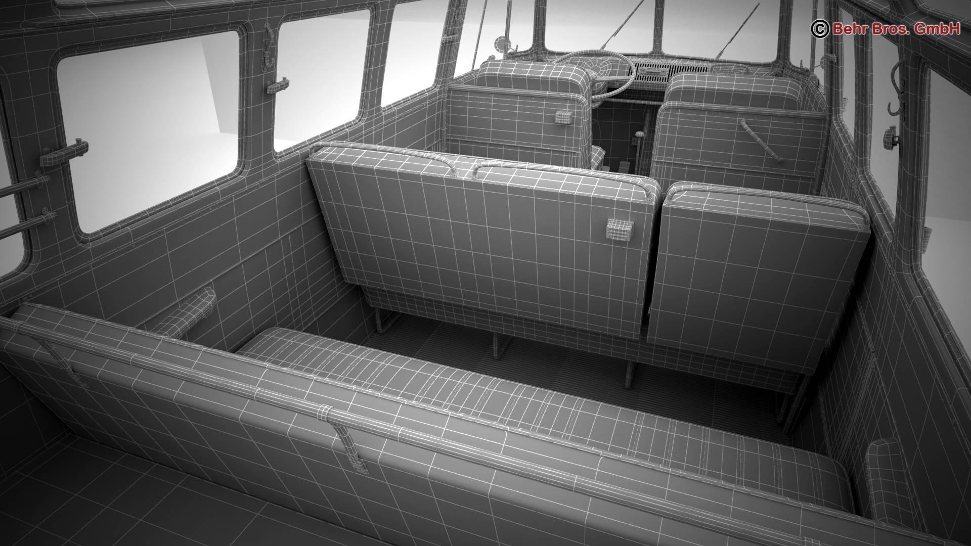 volkswagen type 2 samba 1963 hippie 3d model 3ds max fbx c4d lwo ma mb obj 217272