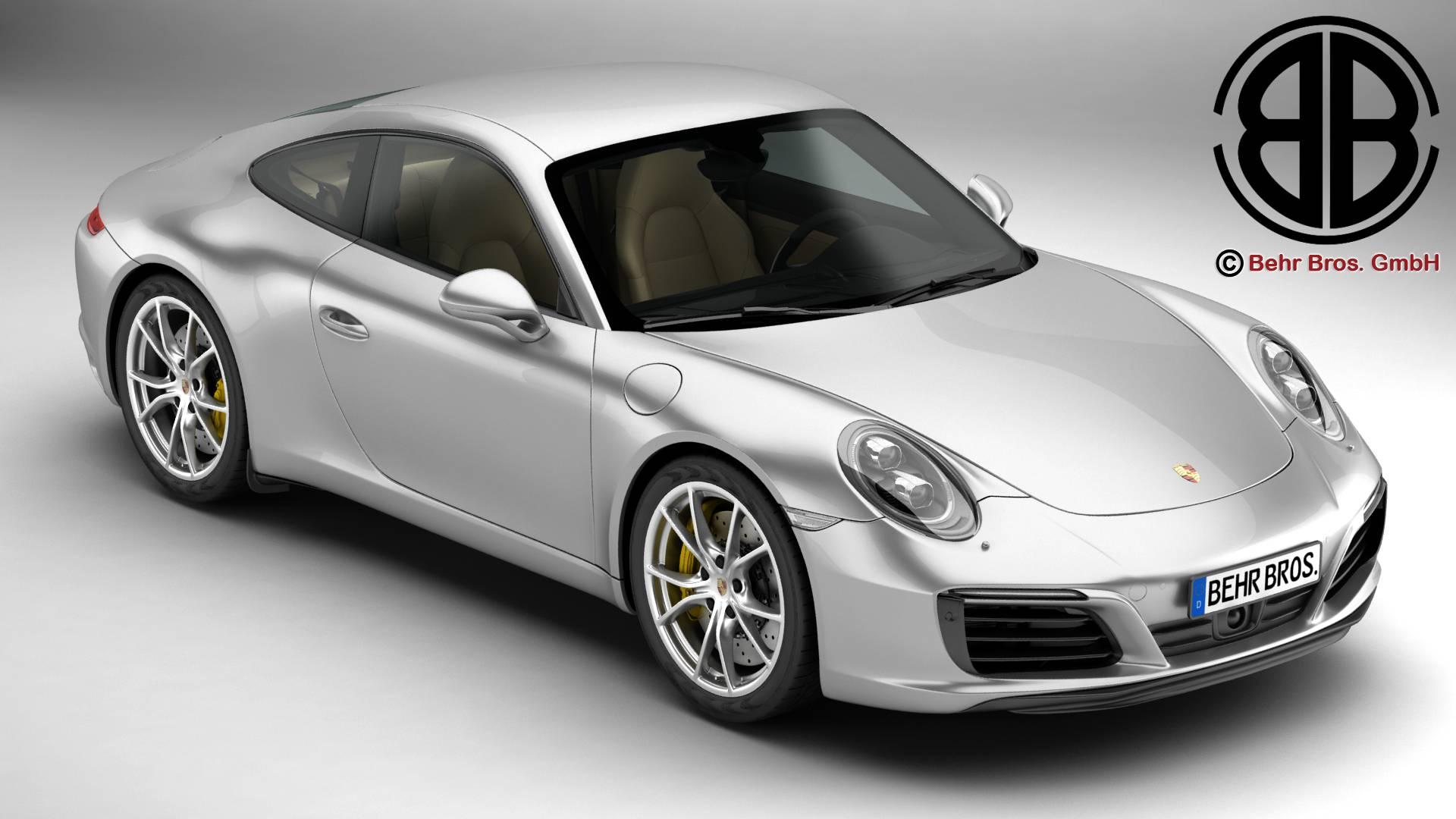 porsche 911 carrera 2017 3d model 3ds max fbx c4d lwo ma mb obj 217275