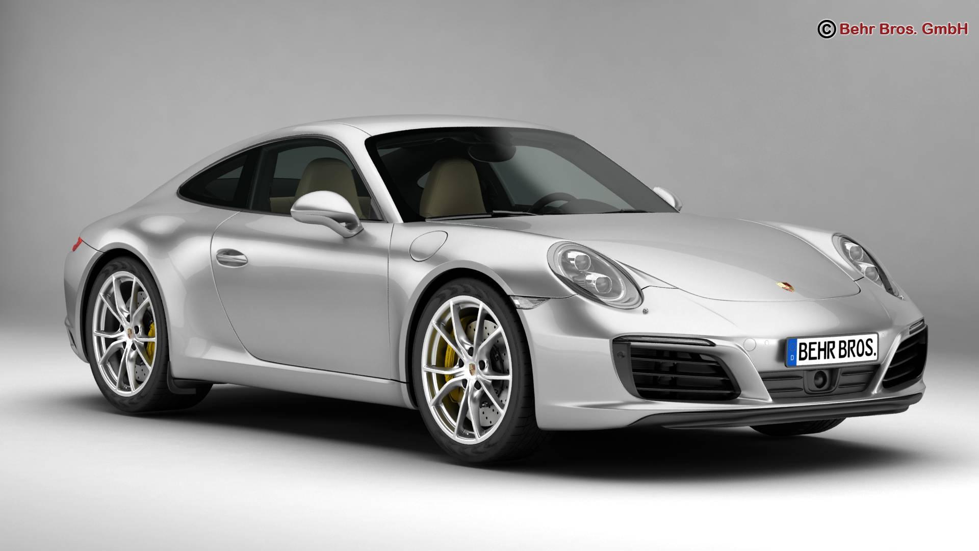 porsche 911 carrera 2017 3d model 3ds max fbx c4d lwo ma mb obj 217276
