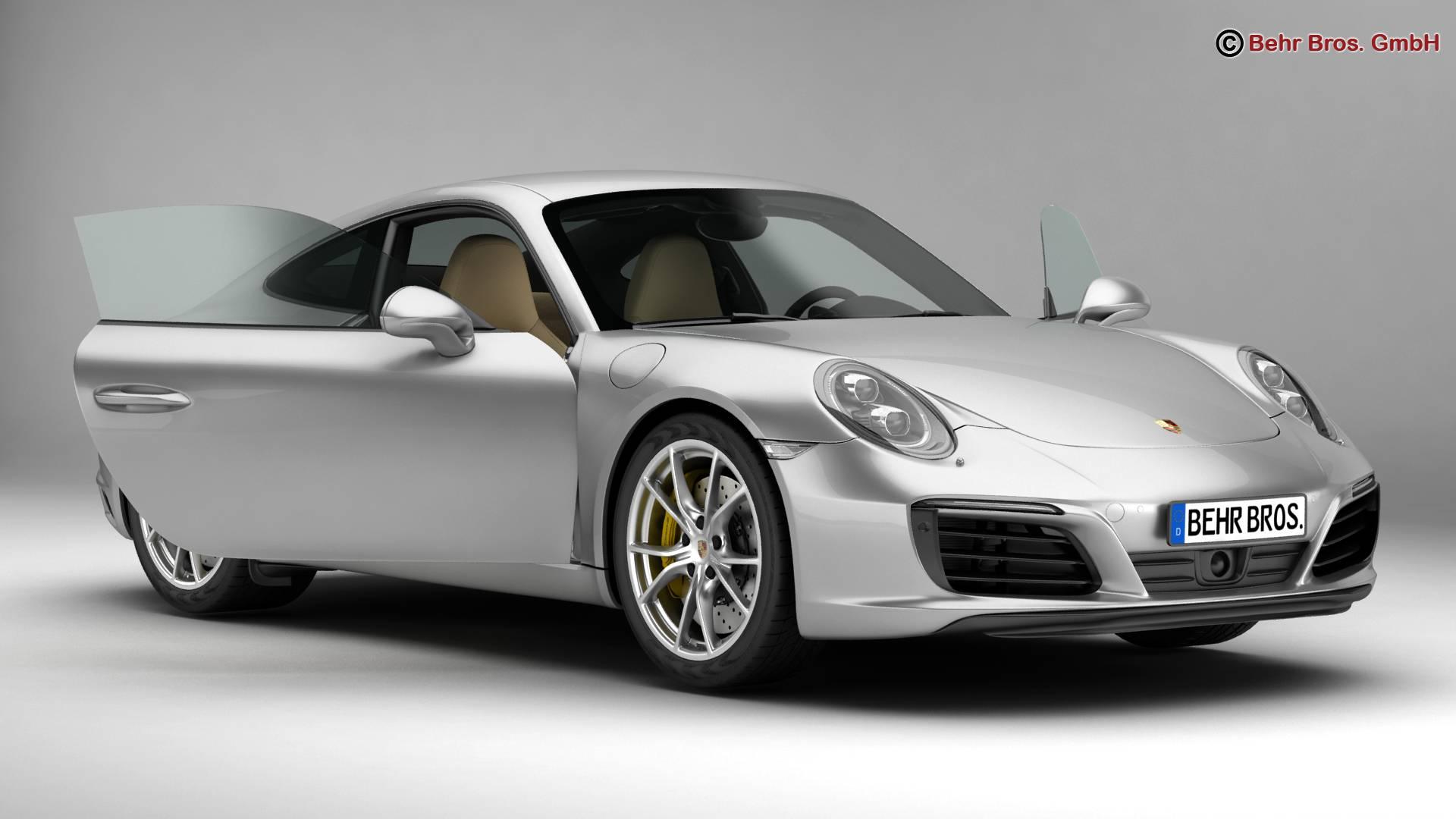 porsche 911 carrera 2017 3d model buy porsche 911. Black Bedroom Furniture Sets. Home Design Ideas
