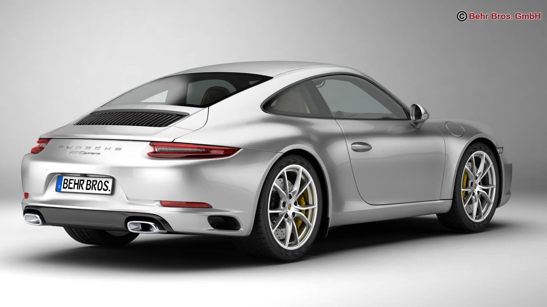 porsche 911 carrera 2017 3d model 3ds max fbx c4d lwo ma mb obj 217278