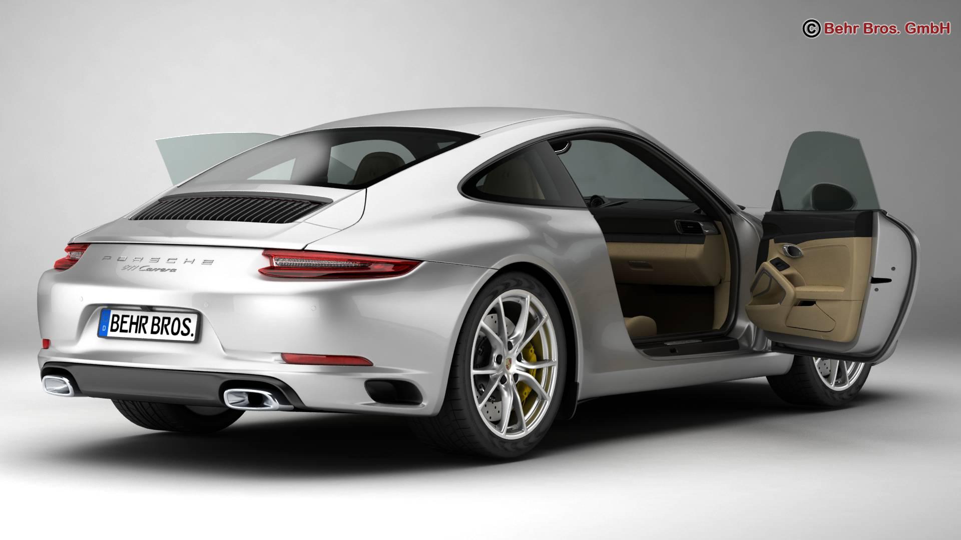 porsche 911 carrera 2017 3d model 3ds max fbx c4d lwo ma mb obj 217279