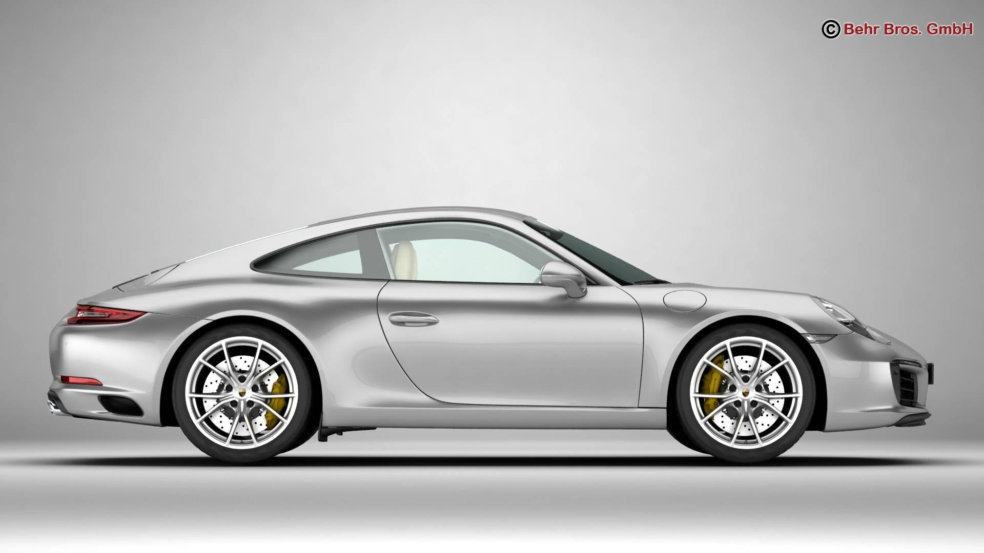 porsche 911 carrera 2017 3d model 3ds max fbx c4d lwo ma mb obj 217280
