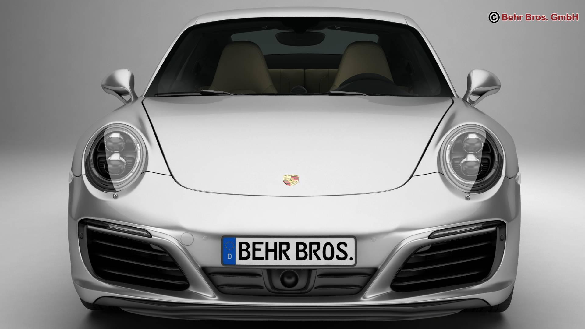 porsche 911 carrera 2017 3d model 3ds max fbx c4d lwo ma mb obj 217281