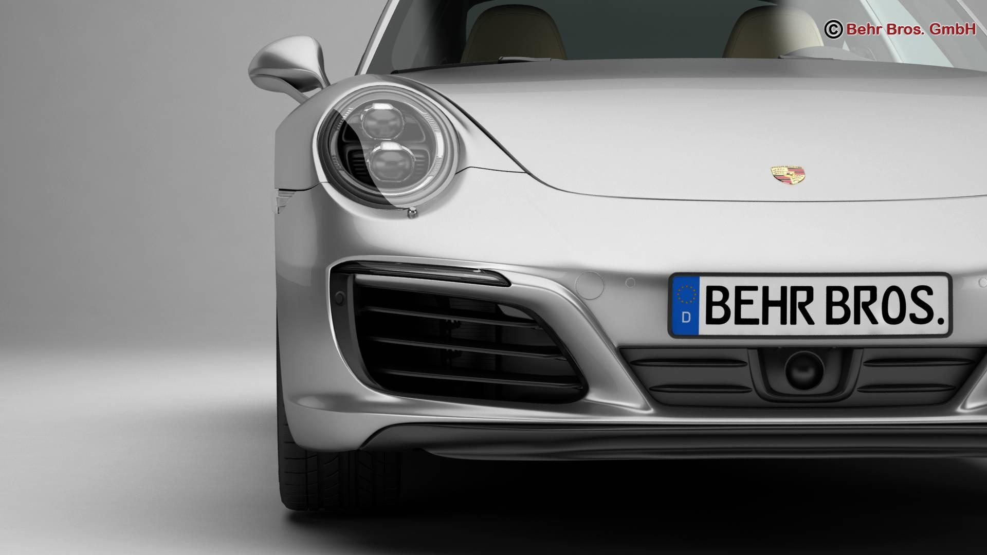 porsche 911 carrera 2017 3d model 3ds max fbx c4d lwo ma mb obj 217282