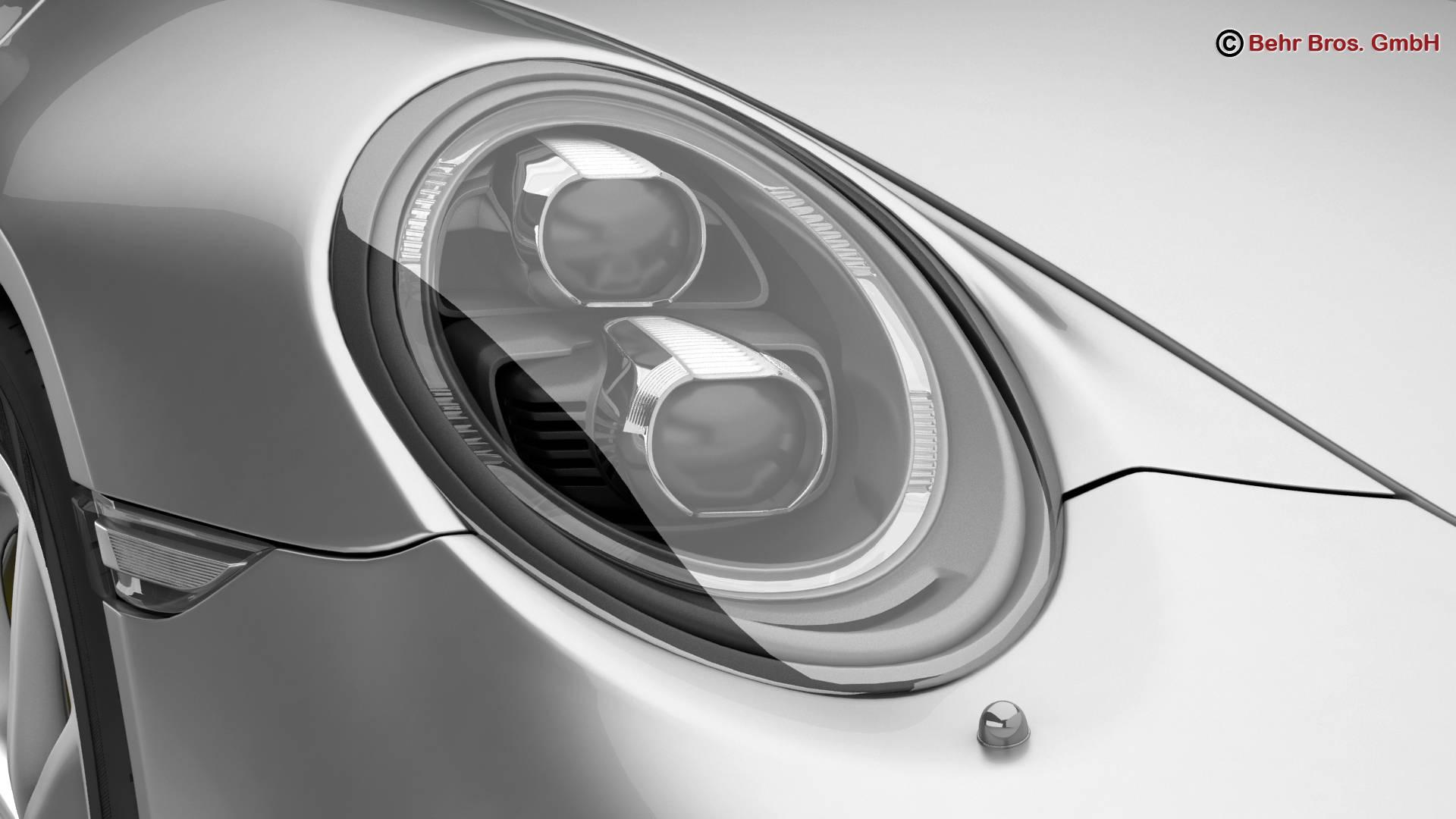 porsche 911 carrera 2017 3d model 3ds max fbx c4d lwo ma mb obj 217284