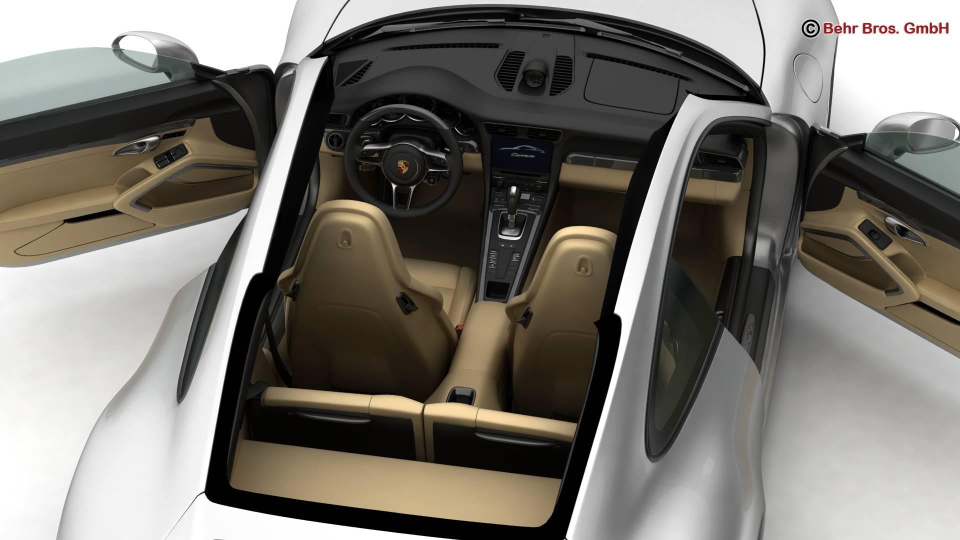 porsche 911 carrera 2017 3d model 3ds max fbx c4d lwo ma mb obj 217287