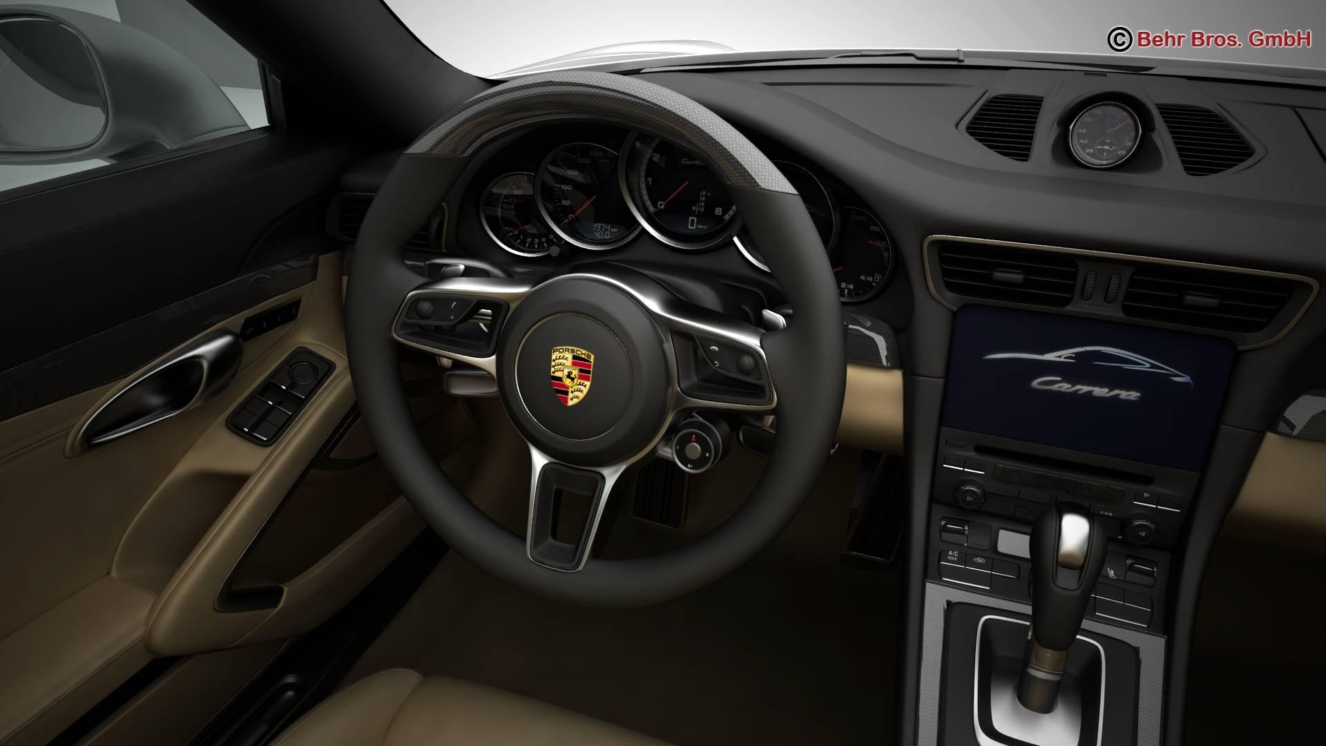 porsche 911 carrera 2017 3d model 3ds max fbx c4d lwo ma mb obj 217289