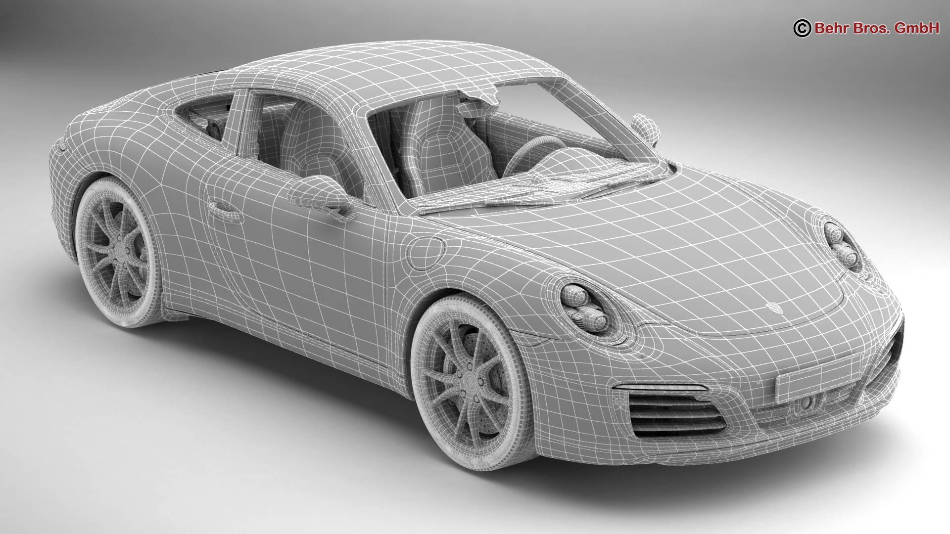 porsche 911 carrera 2017 3d model 3ds max fbx c4d lwo ma mb obj 217290