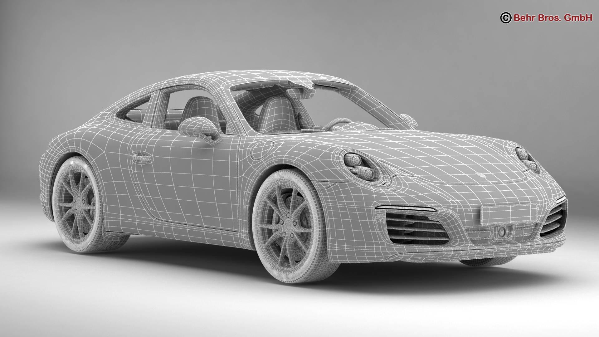 porsche 911 carrera 2017 3d model 3ds max fbx c4d lwo ma mb obj 217291