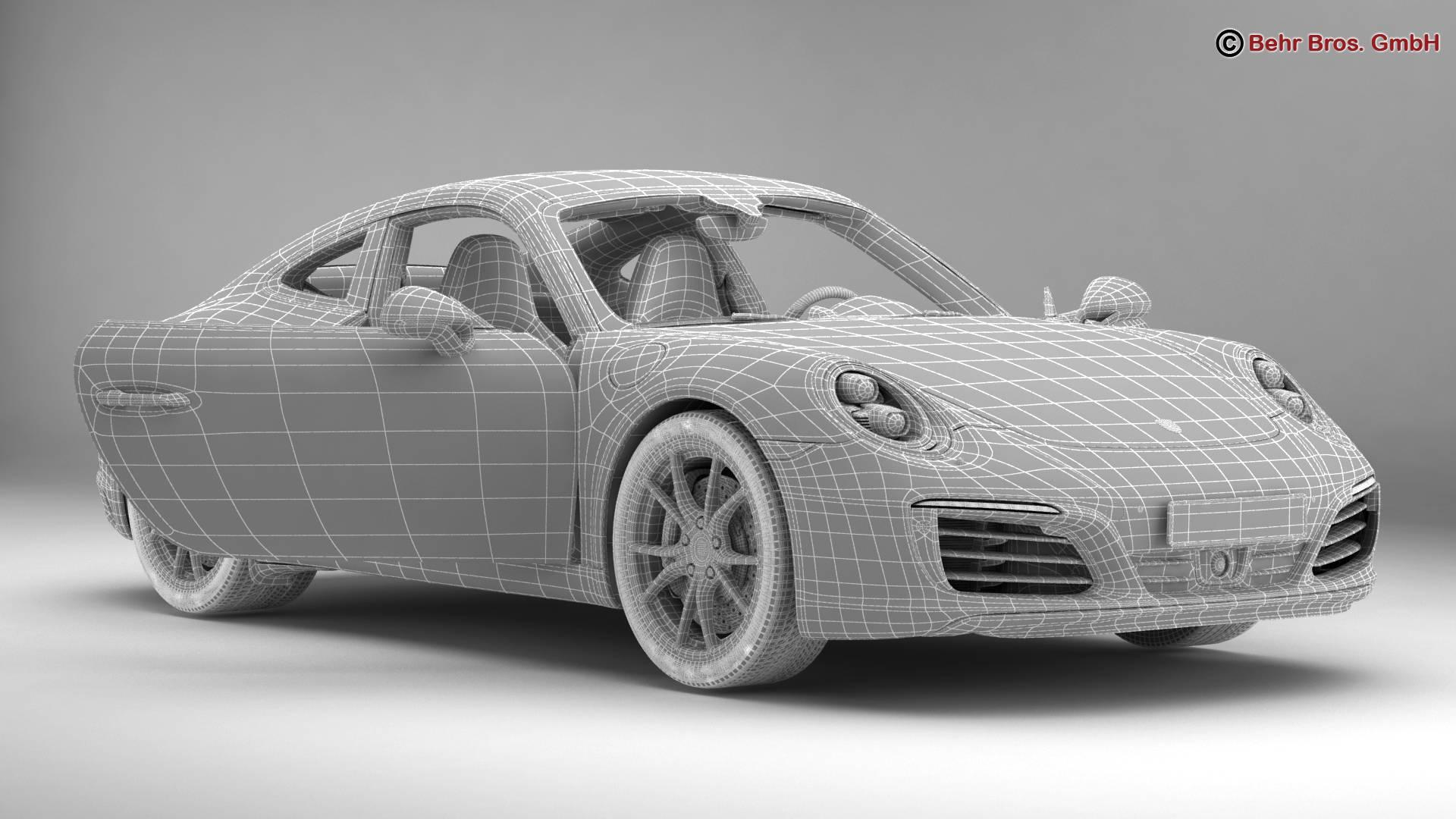 porsche 911 carrera 2017 3d model 3ds max fbx c4d lwo ma mb obj 217292
