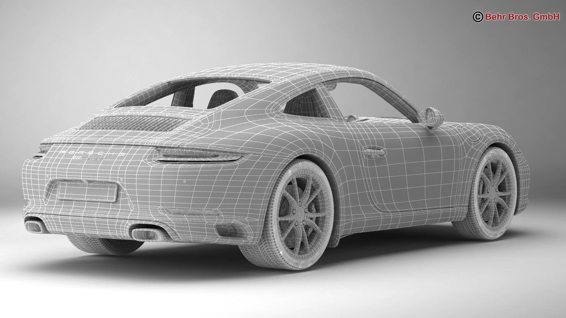 porsche 911 carrera 2017 3d model 3ds max fbx c4d lwo ma mb obj 217293